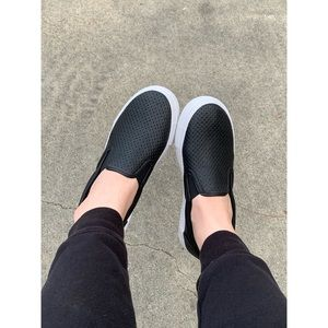 Soda Tracer Perforated Slip On Sneakers Flats
